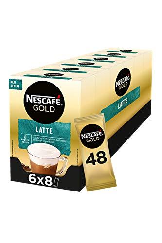Nescafé Gold Latte Macchiato oploskoffie – 6 doosjes à 8 zakjes