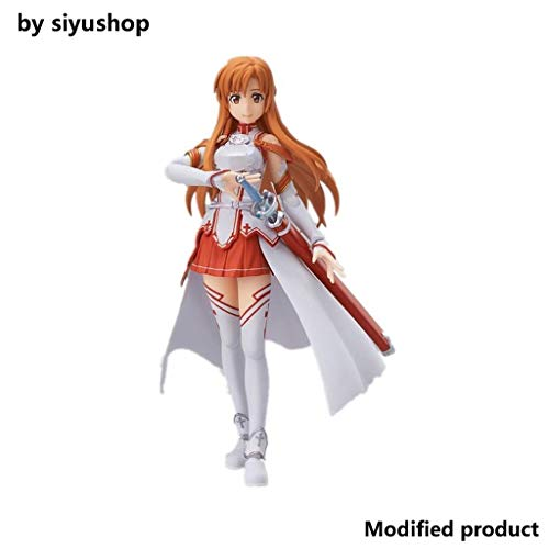 Siyushop Sword Art Online: Figura De Acción De Asuna - Escultura Precisa Altamente Detallada - Equipada con Armas - Alto 14CM