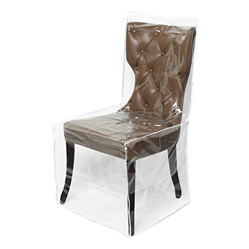 Mardili Schutzbezug für Esszimmerstühle, Kunststoff durchsichtig