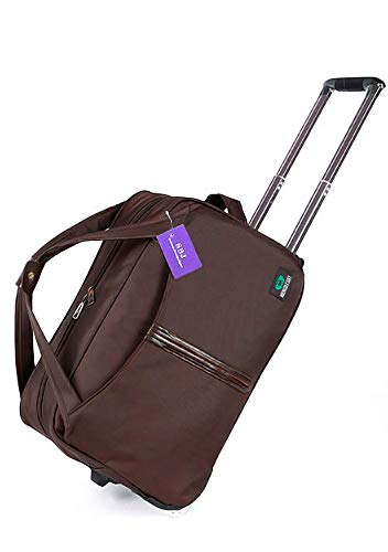 [SBJ] 旅行バッグ キャリーバッグ [キャスター付 ナンバーロックキー付 鍵付 2WAY ボストンバッグ/キャリーケース 大容量 軽量 防水 ] トラベルバッグ トロリーバッグ 旅行かばん ビシネス 出張 かばん [Mサイズ ブラウン]