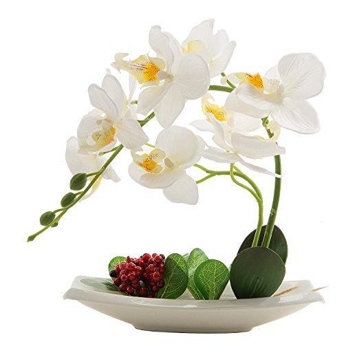 Flores artificiales de orquídeas con maceta de alta calidad Bonsái d