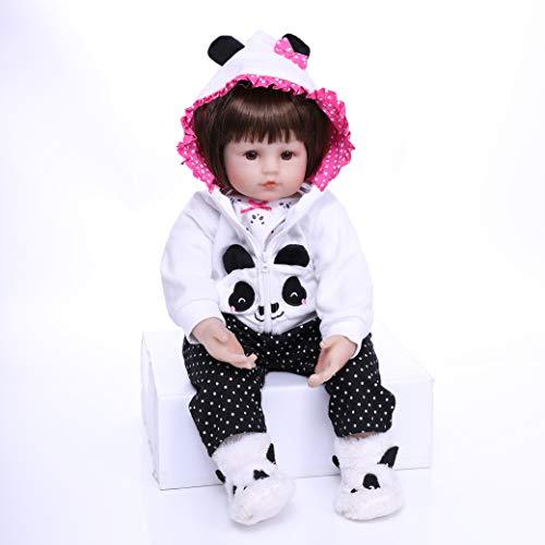 Ziyiui - Muñeca reborn de bebé de 55 cm, muñeca de silicona para bebé recién nacido y niña, regalo de 22 pulgadas