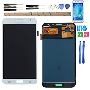 YHX-US Replacement for Samsung Galaxy J7 J700 J700F/DS J700H/DS J700M J700M/DS J700T J700P  2015  LCD Display Screen Touch Digitizer + A Set of Tools  White
