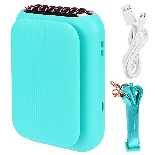HERCHR Mini Ventilador portátil, Ventilador Recargable USB, Ventilador Personal de Cuello de 1800 mAh, Ventilador eléctrico, diseño silencioso para el hogar/Oficina/Viajes(Verde)