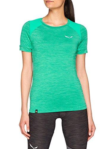 Salewa Pedroc Hybrid W S/S T-Shirt pour Femme Vert Paon Taille 40/34