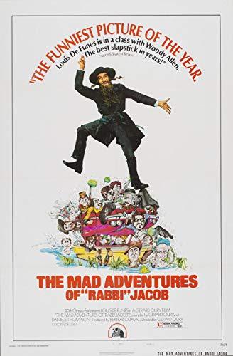 Berkin Arts Affiche de Film Giclée sur Toile-Reproduction Murale de Affiche de Film (Les Aventures folles de Rabbi Jacob 2) #XFB