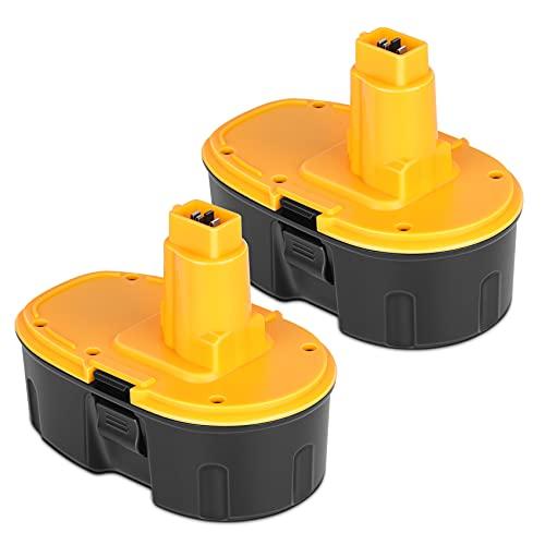 KUNLUN 4.5Ah 18V DC9096 DC9098 Replacement Battery - Compatible with Dewalt 18 Volt XRP Cordless Power Tools DC9099 DW9095 DW9096 DW9098 DW9099 DE9039 DE9503-2 Pack