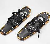 HGYZCQ Racchette da neve da sci da 25 pollici, regolabili anteriori e posteriori, elevata resistenza all'abrasione, resistenza alle basse temperature, impugnatura in lega di alluminio rotolante, ciasp