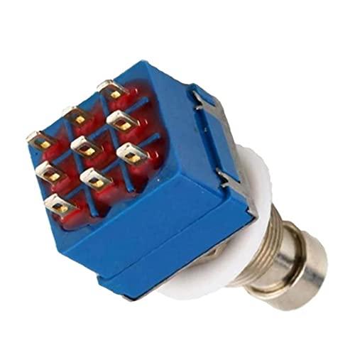 Pedal de efectos de guitarra 3PDT 9 Pines Box STOMP PIE Switch True Pass Bypass Accesorios de guitarra eléctrica