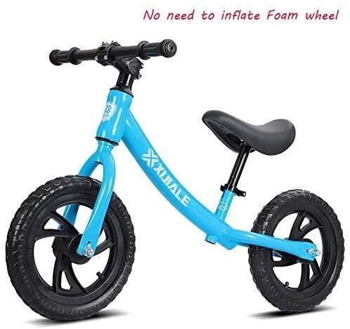 Balance Bike, kein Pedal-Schiebe-Auto-Baby-Kind-Spielzeug-Fahrrad-Kleinkind-Bike Walking Training mit verstellbarem Sitz Leichtbau nicht aufblasbares Schaumgummireifen-Licht und leicht zu steuern lala