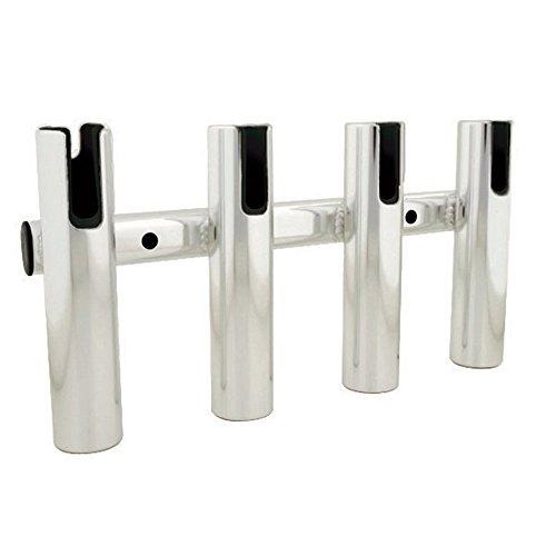 TACO 4-Rod Holder Rack - Brushed Aluminum