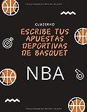 Escribe tus apuestas deportivas de Basquet: Cuaderno NBA
