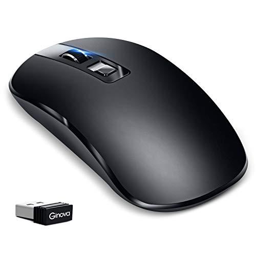 【2019最新版】 ワイヤレス マウス 静音 USB充電式 マウス 2.4GHz 省エネルギー 3段調節可能DPI 光学式 高精度 持ち運び便利 無線マウス 有線/無線両対応 Mac/PC/Laptop/Macbookなど多機種対応 オフィス/旅行/出張/に最適