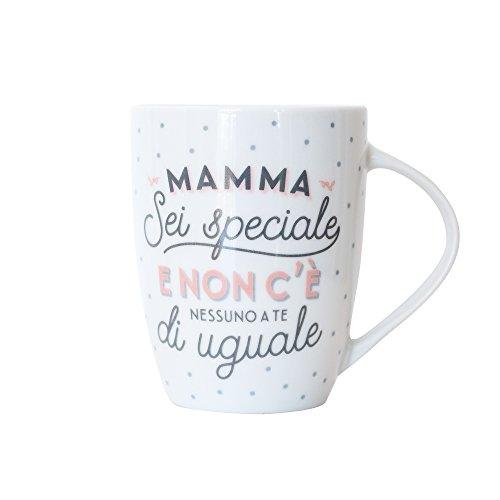 Mr.Wonderful Mamma, Sei Speciale. E Non c'è Nessuna a Te di uguale Tazza, Porcellana, Bianco, 35x35x35 cm