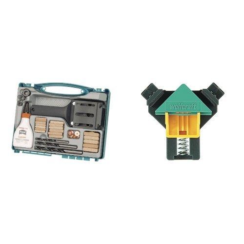 Wolfcraft 4645000 - Set universal de ensamblaje + Mordaza Angulo Doble Ajust. 3051000