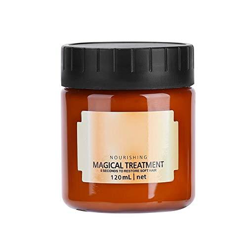 120ml Mascarilla para el Cabello, Máscara Mágica para el Cabello Tratamiento Nutritivo Suave Reparación Daño Tratamiento para Cabello Maltratado Reparación Intensa para Cabello Seco y Dañado