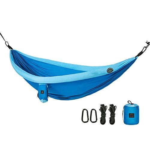 Hamaca para acampar al aire libre 3-4 personas que acampan hamaca columpio cama colgante carga máxima 200kg viaje mochilero playa patio trasero