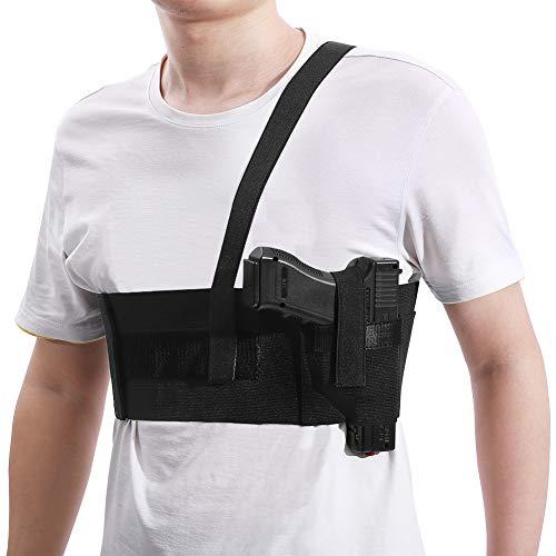 Deep Concealment Shoulder Holster, Accmor Universal Concealed Carry Shoulder Holster Vest, Elastic Underarm Gun Holster Waistband for Men and Women, Right Hand Draw