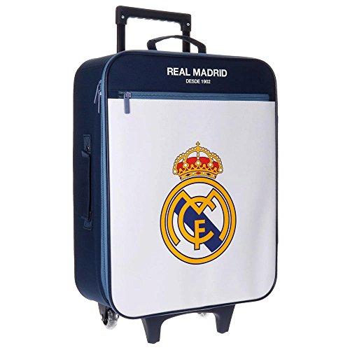 Real Madrid 4969151 Magnum Equipaje Infantil, 52 cm, 26 litros, Blanco