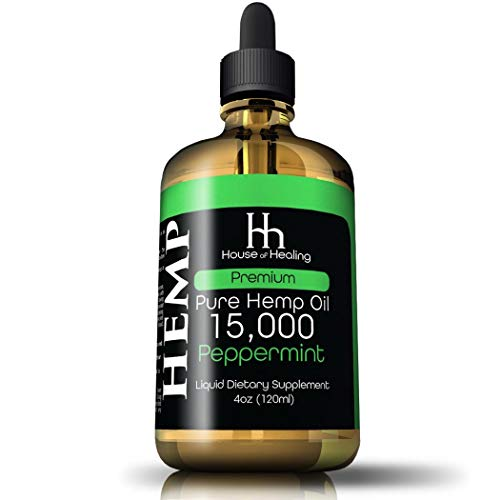 Hemp Oil for Pain Relief :: Hemp 15,000mg :: Hemp Extract :: May Help with Inflammation, Joints, Mood, Sleep & More :: Hemp Drops :: Rich in Omega 3,6,9 (Peppermint)