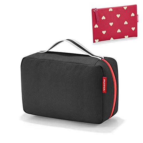 reisenthel kids Wickeltasche babycase black + gratis kleine Tasche case 1 ruby hearts