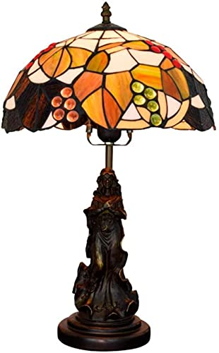 SpiceRack Lamps for Bedroom Lights Table Lamps,Lamps for Bedroom Lights Table Lamps Color Glass Decorative Lamps Stained American Brown Grape Table Lamps 12 Inch Living Room Dining Room Bedr
