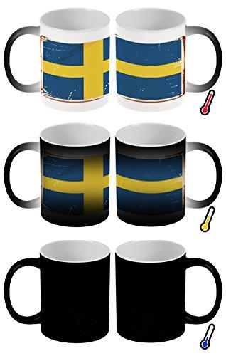 Zaubertasse Farbwechseltasse Kaffeebecher Tasse Becher Latte Cappuccino Espresso Urlaub Reisebüro Schweden