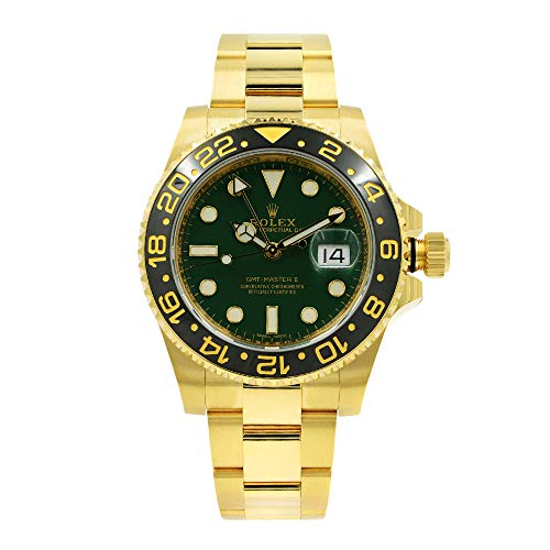 Rolex GMT Master II 'Anniversary Green' Yellow Gold Automatic Watch 116718LN