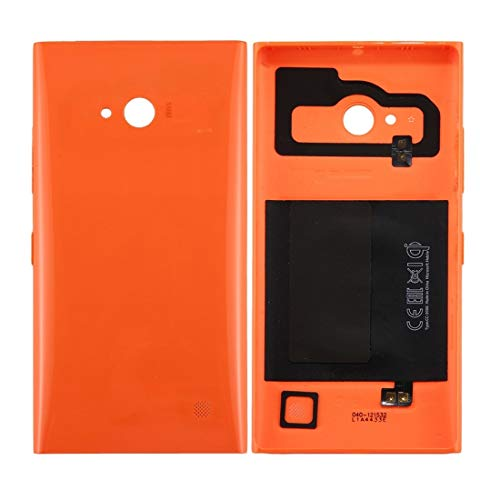Generic -Solid Color NFC Battery Back Cover for Nokia Lumia 735 (Black) ine (Color : Orange)