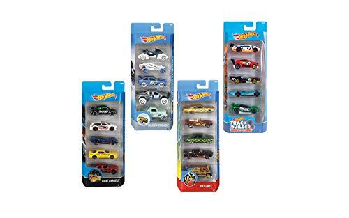 Hot Wheels Pack 5 vehículos surt. 29x11