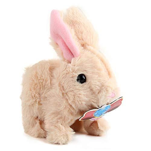 Aoten Juguete eléctrico para niños con forma de conejo, juguete inteligente
