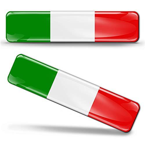 Biomar Labs 2 x sticker 3D gel siliconen stickers Italië vlag Italië vlag vlag vlag autosticker F 13