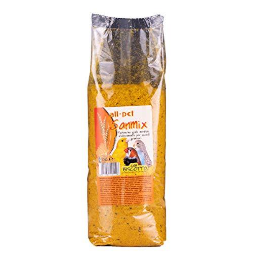 All Pet Sanmix Pastoncino Giallo Morbido con Biscotto per Uccelli granivori 1 kg