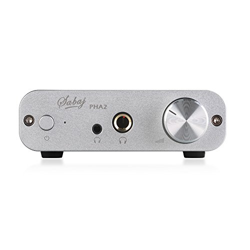 Sabaj PHA2 - Audio Amplificador de Auriculares Portátil, AMP 5V 6.35mm TPA6120A2, color Plata