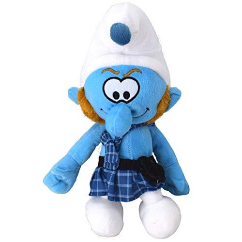 Marabella Die Schlümpfe Kuscheltier 38cm Charakter wählbar Stofftier Teddy Plüschfigur, Charakter:McTapfer