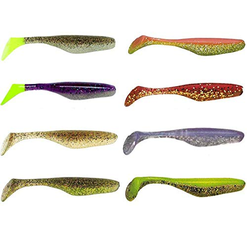 Bass Assassin WES50312 Elite Shiner (8 Count), Mama's Chicken, 4'