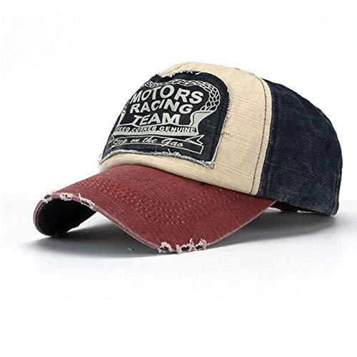 ZHAOSHOP Sombrero Sombrero para el Sol, Cuatro Estaciones, Gorra de béisbol de Moda, Borde Roto, Vieja Gorra Casual para jóvenes, Vino Rojo libélula + Azul Marino