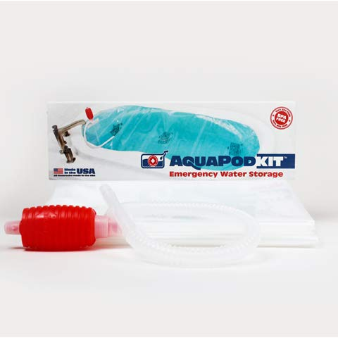 AquaPod Kit 2.0 - (Box) BPA free and Made in USA! Emergency Water Storage Container, Hurricane Survival (65 gallons of water – some larger or garden tubs can hold up to 100 gallons of water)