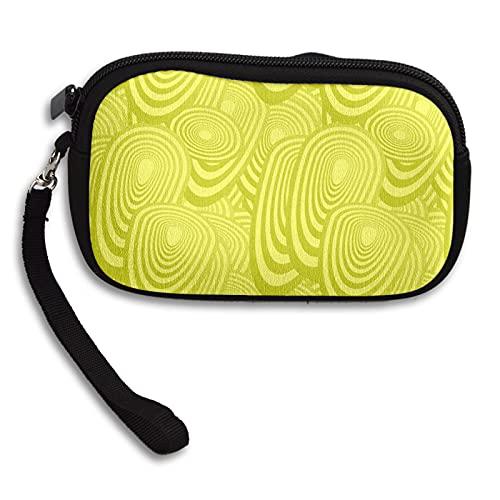 Portamonete ellittica ovale giallo uovo Ellipse Portamonete portachiavi Mini borsa cosmetica con cerniera