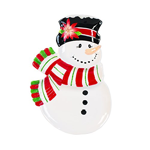Fitz and Floyd Top Hat Frosty Collection Three Section Server, White