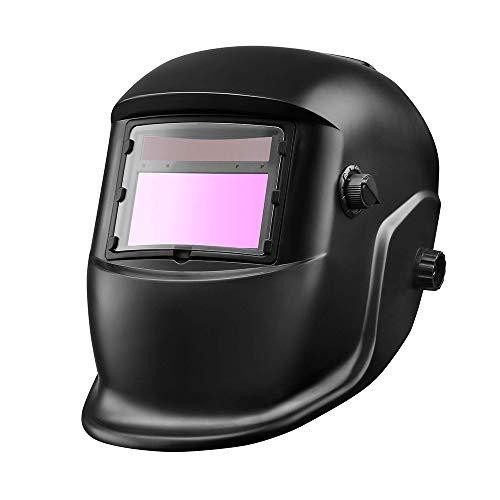 ONEVER Máscara de Soldadura fotoeléctrica de oscurecimiento automático Solar Casquillo de Soldadura de Arco de argón montado en la Cabeza Casco Protector de Soldadura
