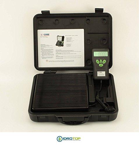 Báscula electrónica LCD carga máxima 100kg para gas refrigerante-idrotop