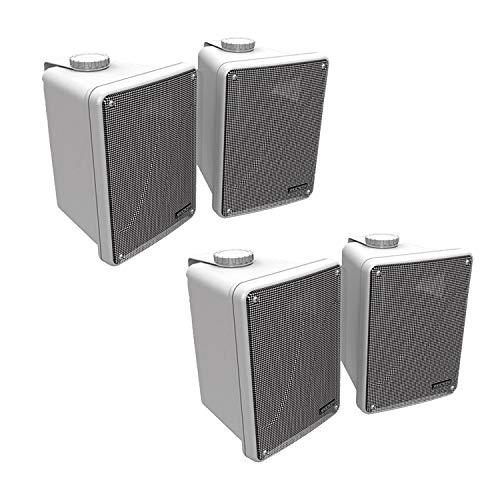 "4) KICKER KB6000 6.5"" White Full-Range Indoor/Outdoor/Marine Speakers 11KB6000W"