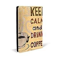 ブックカバー,落ち着いてコーヒーを飲む PUレザー ブックカバー A5サイズ 文庫本サイズ ブックカバー 新書サイズ 選べるイニシャル ブックカバー