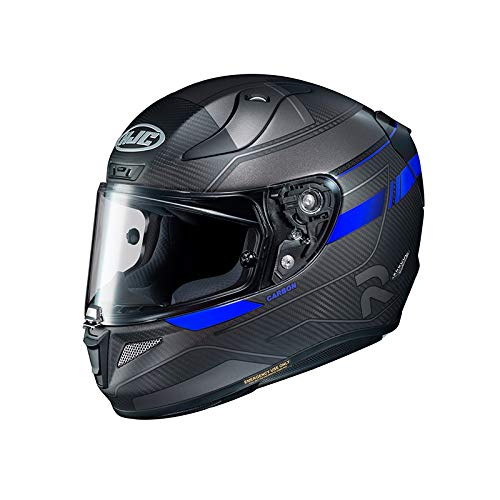Casco moto HJC RPHA 11 CARBON NAKRI MC2SF, Nero/Blu, S
