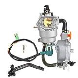 Fdit Carburador de Combustible Dual con generador de GNC de GLP Profesional, Ajuste Duradero para Accesorios de estrangulador Manual GX390 188F, 4.5-5.5KW