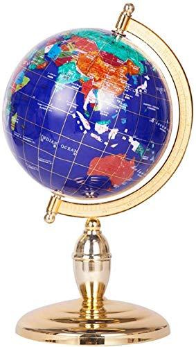 Große Edelsteinkugel, World Globe Desktop Home Decoration Erdkugel - für pädagogische geografische Moderne, weiß-15 cm