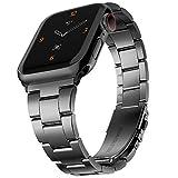 Adepoy コンパチブル Apple watch バンド 金属バンド アップルウォッチベルト 長さ調整可能 調整工具不要 ステンレス留め金式 ビジネス風 series se/6/5/4/3/2/1に対応