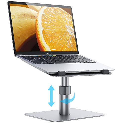 Laptop Stand Adjustable Height,360° SwivelComputer Stand for Laptop,Aluminum Laptop Riser Ergonomic Notebook Holder,Compatible with MacBook Pro/Air,Dell XPS,Lenovo(10-16 Inches)