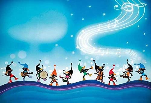 Elf Band Luminous Japan, 1000 puzzels voor volwassenen, familiepuzzels, houten puzzels, educatieve spellen, intellectuele uitdagingspuzzels, uitdagingsspellen